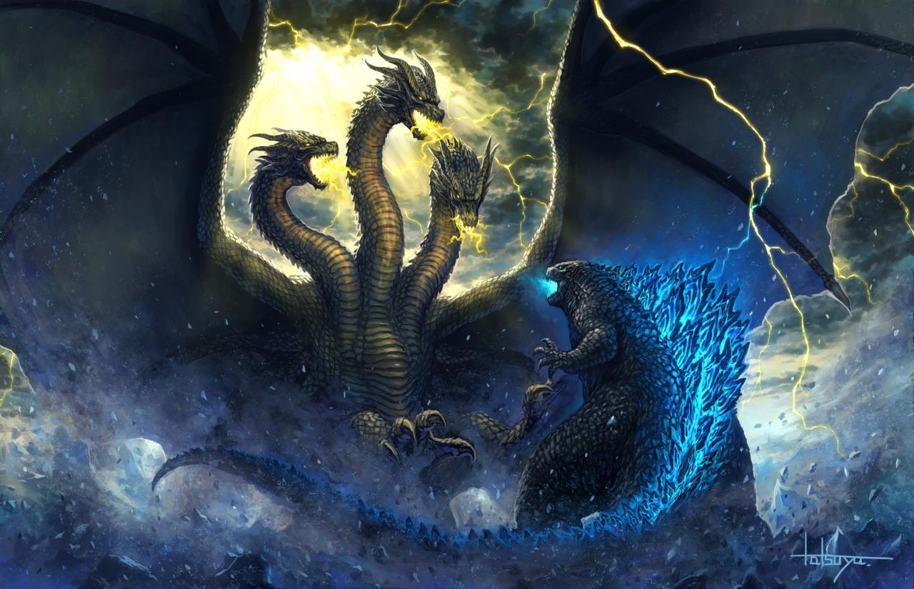 Godzilla Vs King Ghidorah In The Storm By Misssaber444 On Deviantart