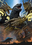 Godzilla vs King Ghidorah Epic Battle