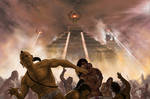Mayan City Attack from Aliens