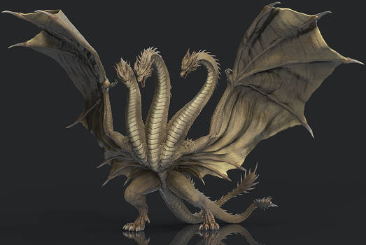 King Ghidorah 3D completed