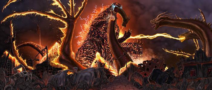 Burning Godzilla's Fury
