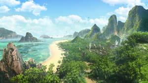Tropical island: The Village
