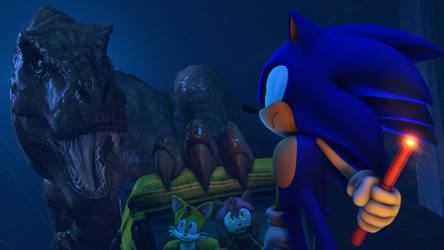 Sonic in Jurassic Park T-Rex Breakout is Here