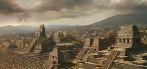 Concept Art Mayan Landscape