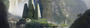 Mayan Waterfall Temple