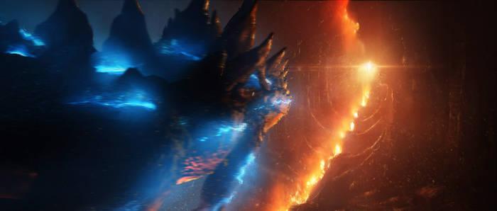 Concept art for Godzilla KOTM arrival