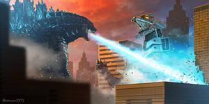 Godzilla 2019 vs Kiryu Mechagodzilla