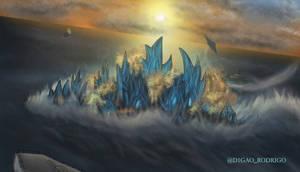Godzilla in the Ocean Attack