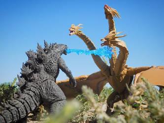SHMA Godzilla 2019 vs King Ghidorah 2019 No Storm