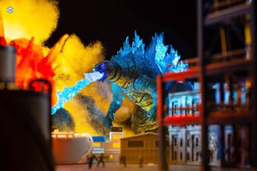 SHMA Godzilla 2021 Attacking Apex Cybernetics