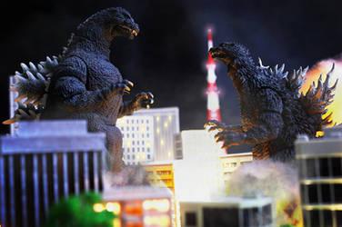 SHMA Godzilla 1989 vs Godzilla 2002