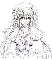 Kobato_sketch by Hikari-Rose-Moon