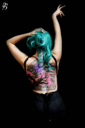 Candy Skull 2 - Back piece view