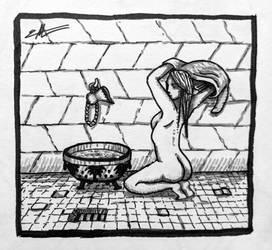 Nude In Bathroom