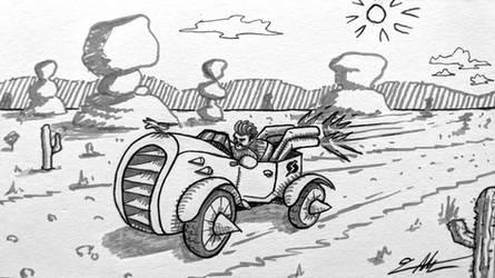 Dust Blaster - Race car