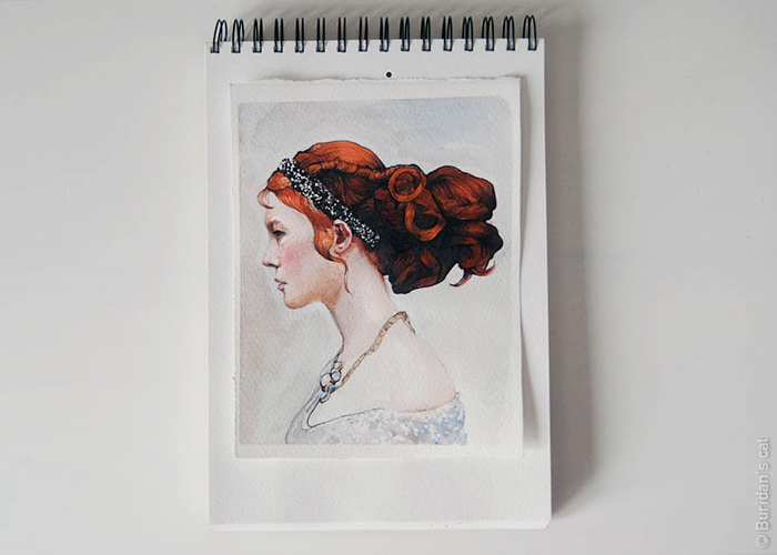 Watercolor Sketch - 3 by Buridanscat