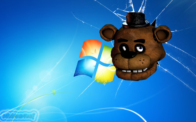 FNAF WALLPAPER-Freddy Head Windows 7 by MiniAna-Fnaf on ... H20 Delirious