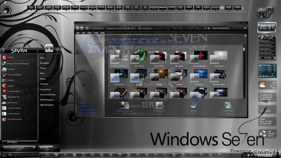 Download free windows 7 themes and styles for windows 7.