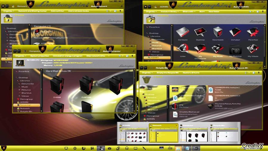 темы lamborghini для windows 7