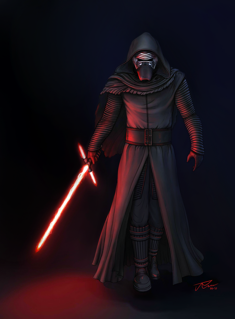 Kylo Ren Colored by rousanilmy