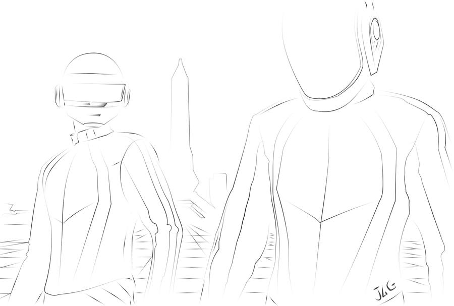 how to draw daft punk