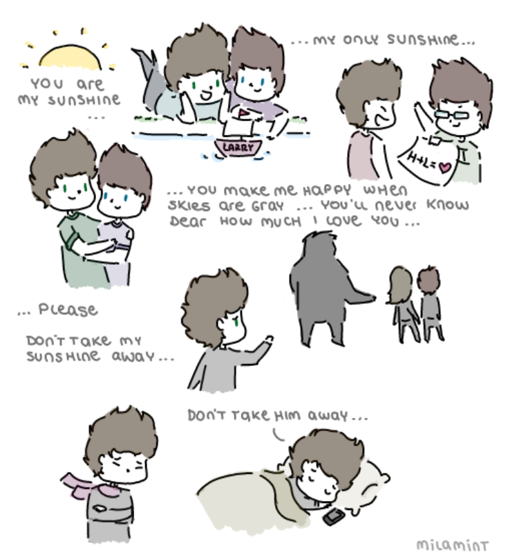 one direction - larry stylinson: u r my sunshine by milamint