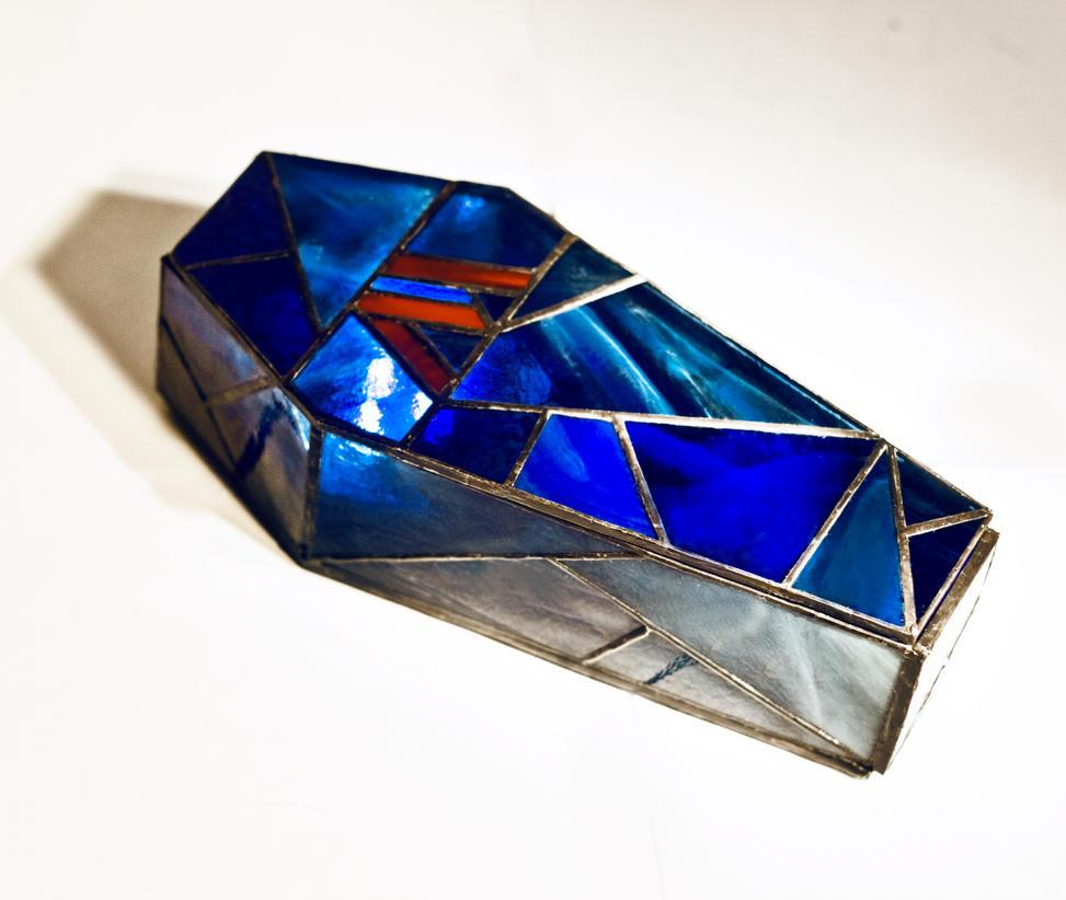 Coffin jewelry box Tiffany technique by zyklodol on DeviantArt