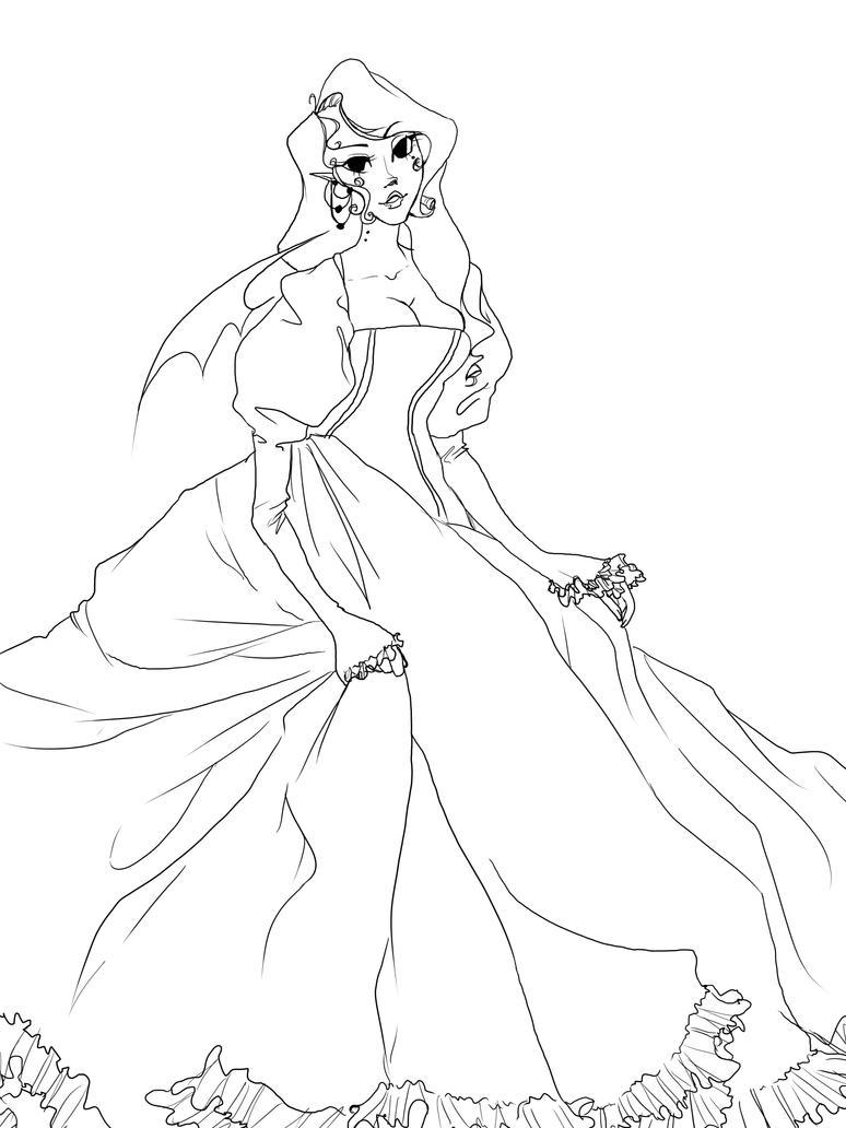 The Line Artist : Vampire princess line art by dark sprinkles on deviantart
