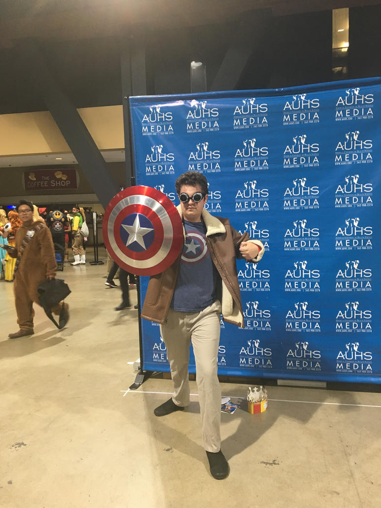 Steampunk Captain America and His Vibranium Shield by Ask-Professor-Layton