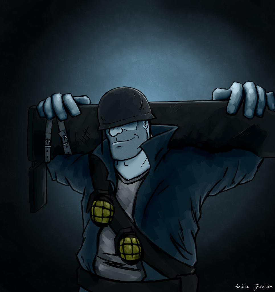 Rude BLU Soldier ver. 2 by Menaria