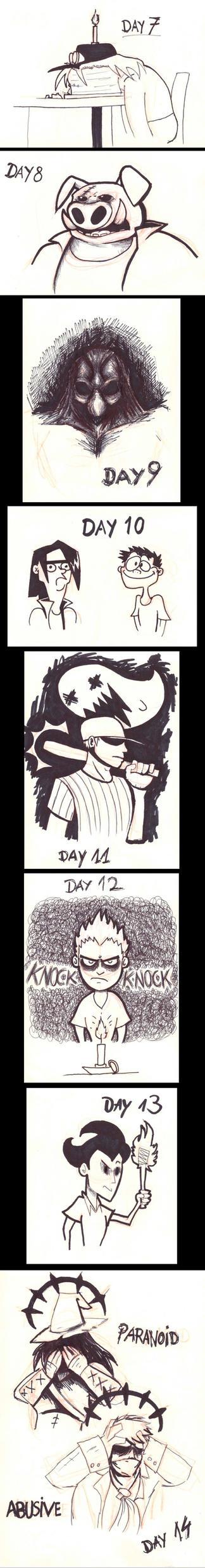 Inktober days 7-14 by Menaria