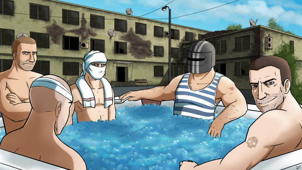 Hot Tub with Tarkov Bosses