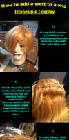 How to Add a Weft to a Wig