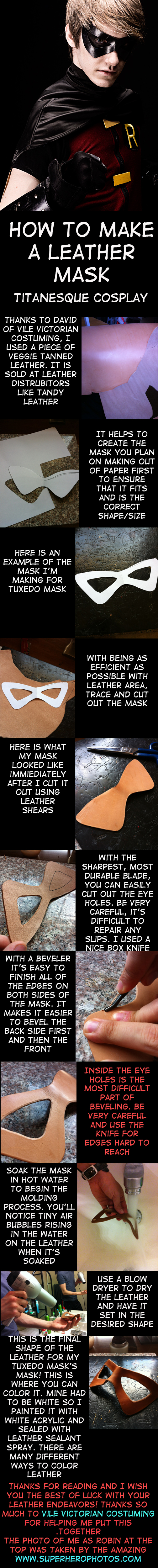Leather Mask Tutorial by TitanesqueCosplay