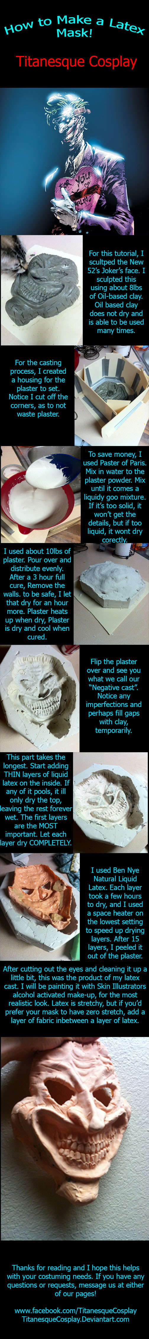 How to Make a Latex Mask by TitanesqueCosplay