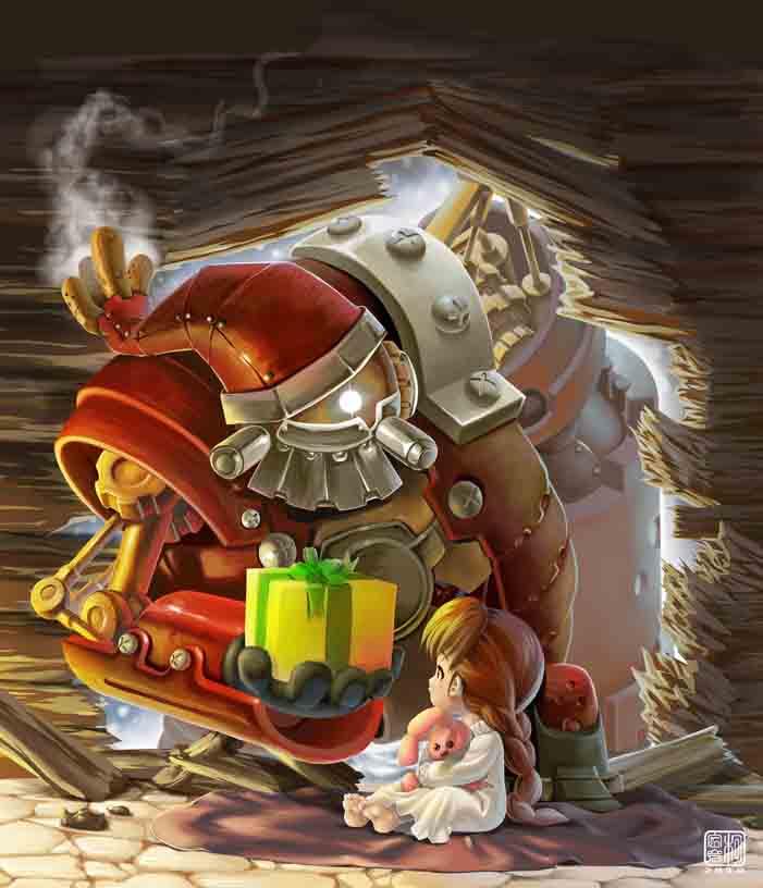 Steampunk_Claus by Agustinus