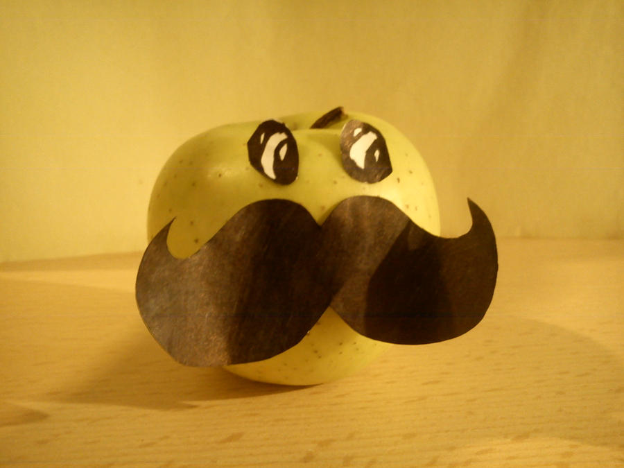 Movember Apple by AnyLuck