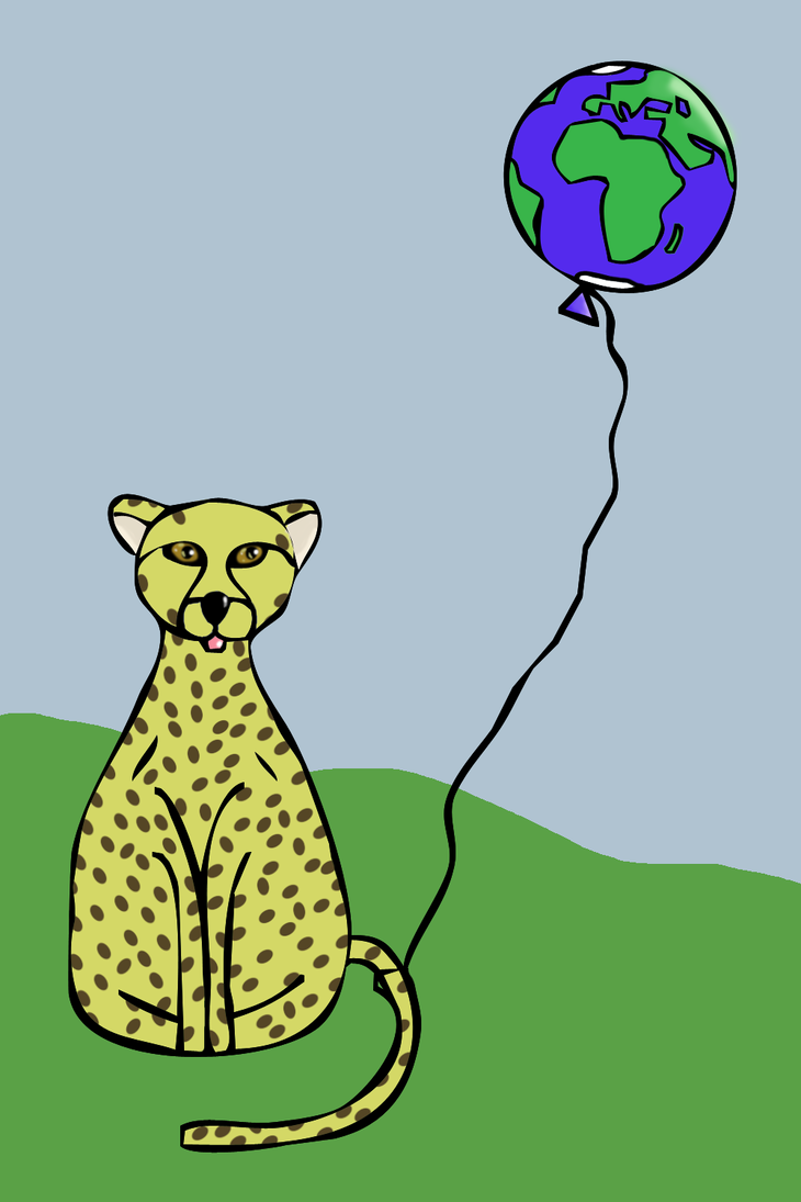 Animals with Balloons: Cheetah by AnyLuck