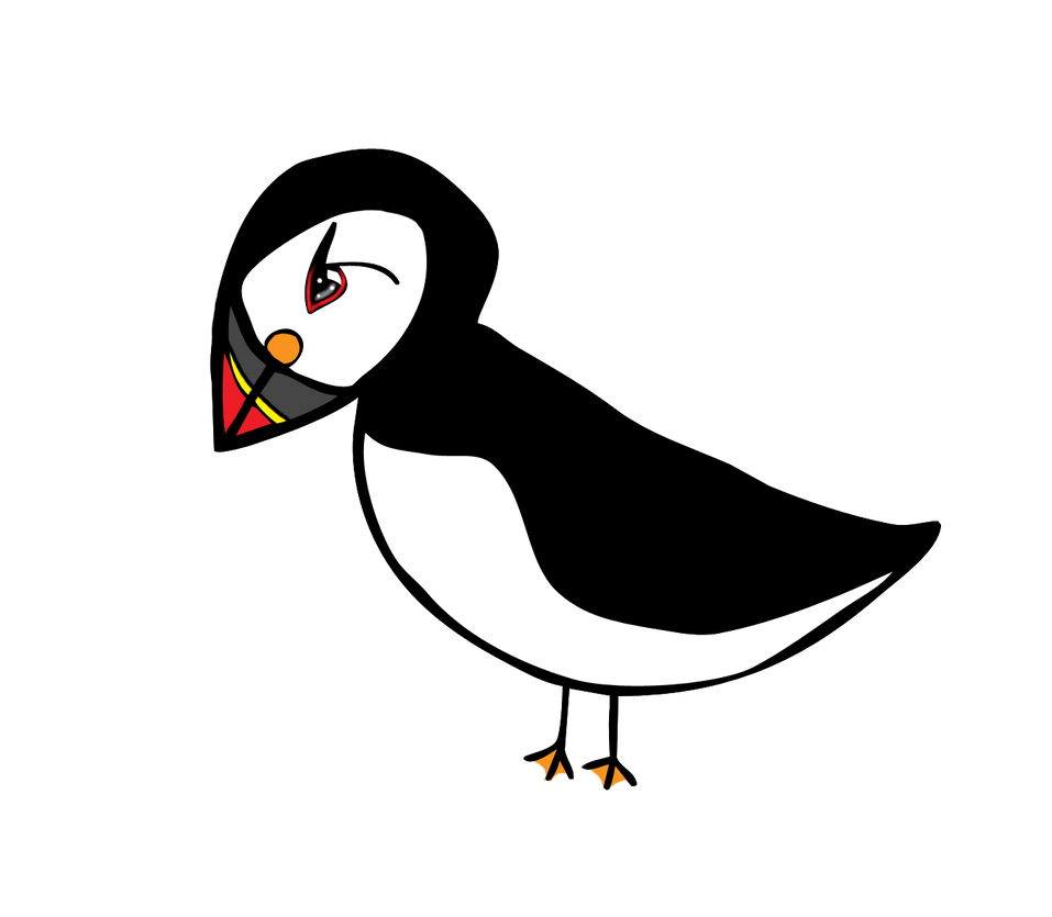 how to draw a cute puffin