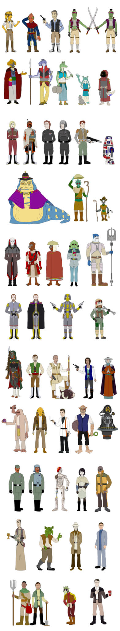 Star Wars: Edge of the Empire Campaign NPCs by R-Zion