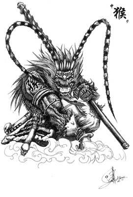 Chinese Monster Zodiac-Monkey