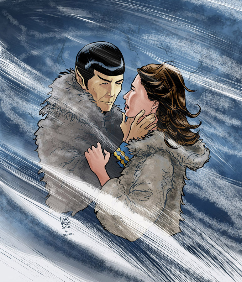 Spock And Zarabeth by Marcelo-Baez