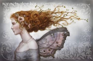 mother of pearl faerie by AvantFae