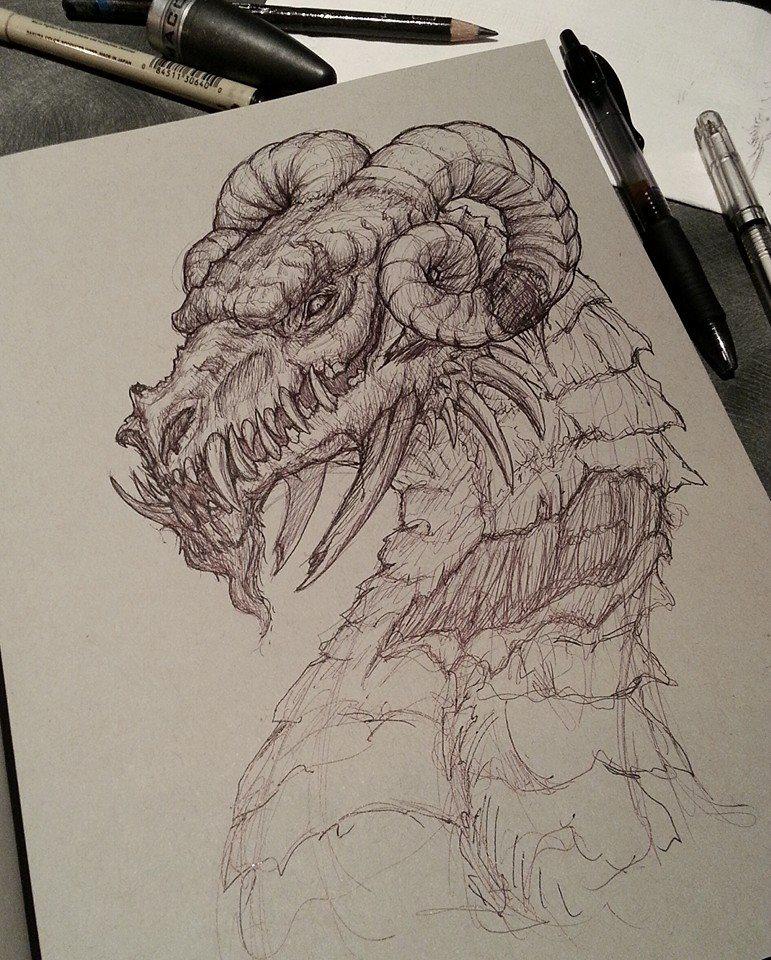 Dragon Pen Sketch By CrystalSully On DeviantArt