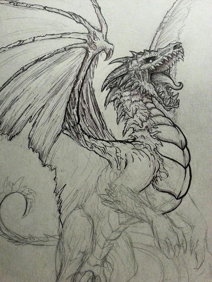 Undead Dragon Sketch