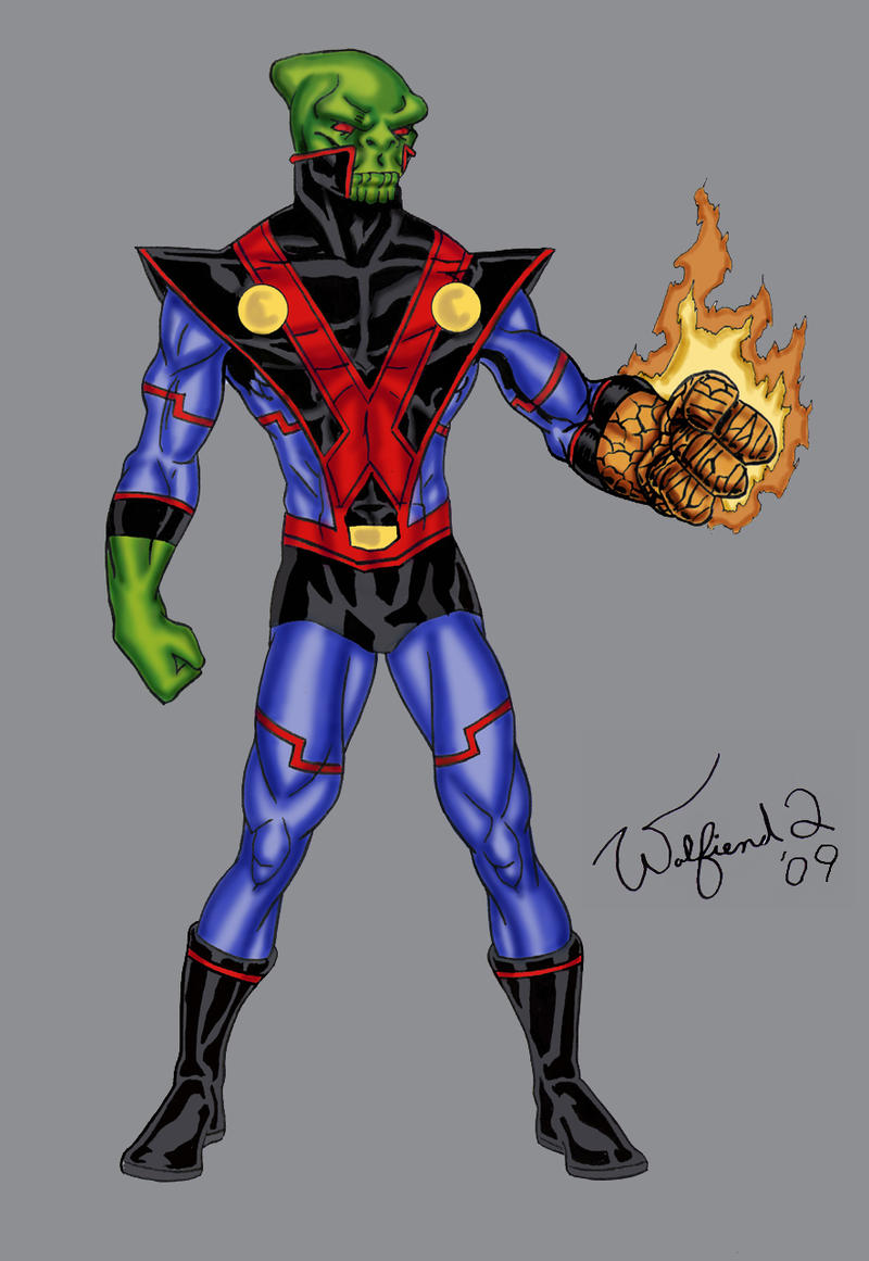 Skrull Manhunter - Amalgam by Walfiend2
