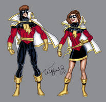 Captain and Miss Marvel by Walfiend2