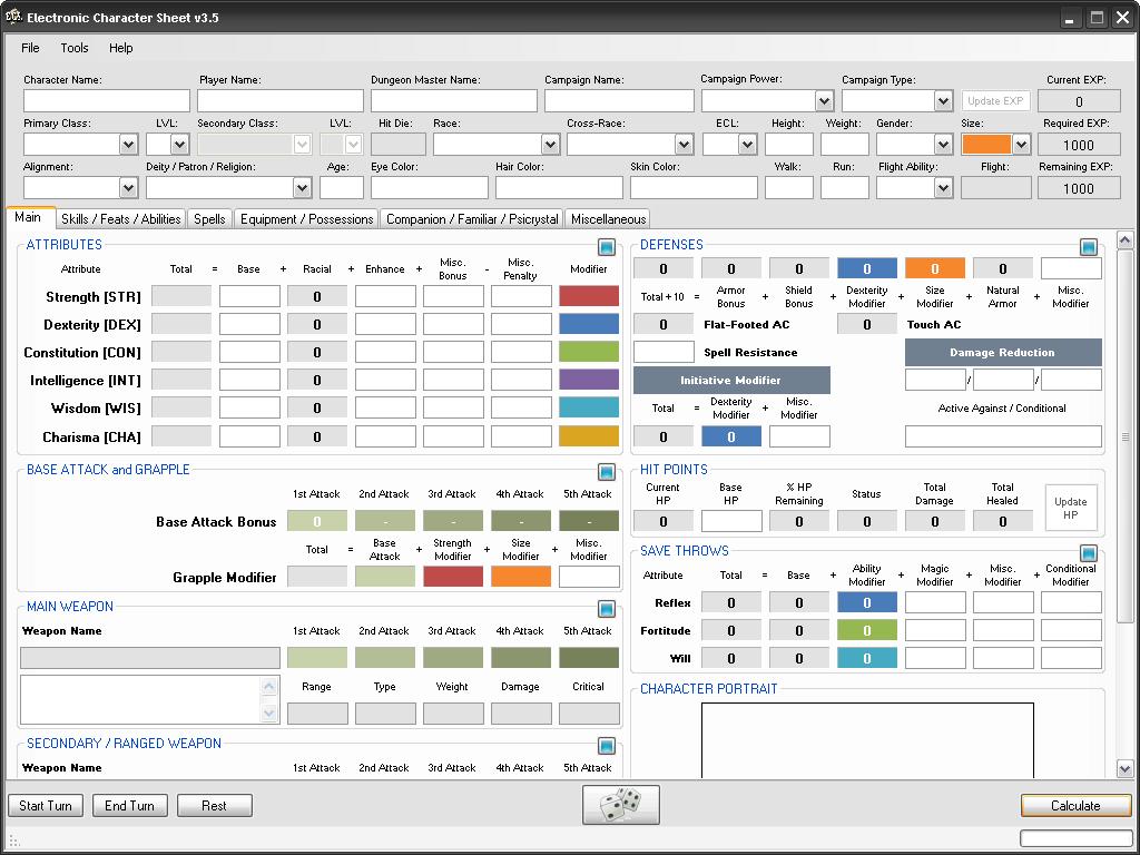 DnD - ECS v3 5 UI by SacredFootballLB on DeviantArt