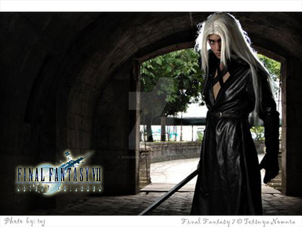 FFVII photoshoot: Sephiroth by nekomiKasai