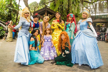 Princesses with little Sofia by nekomiKasai
